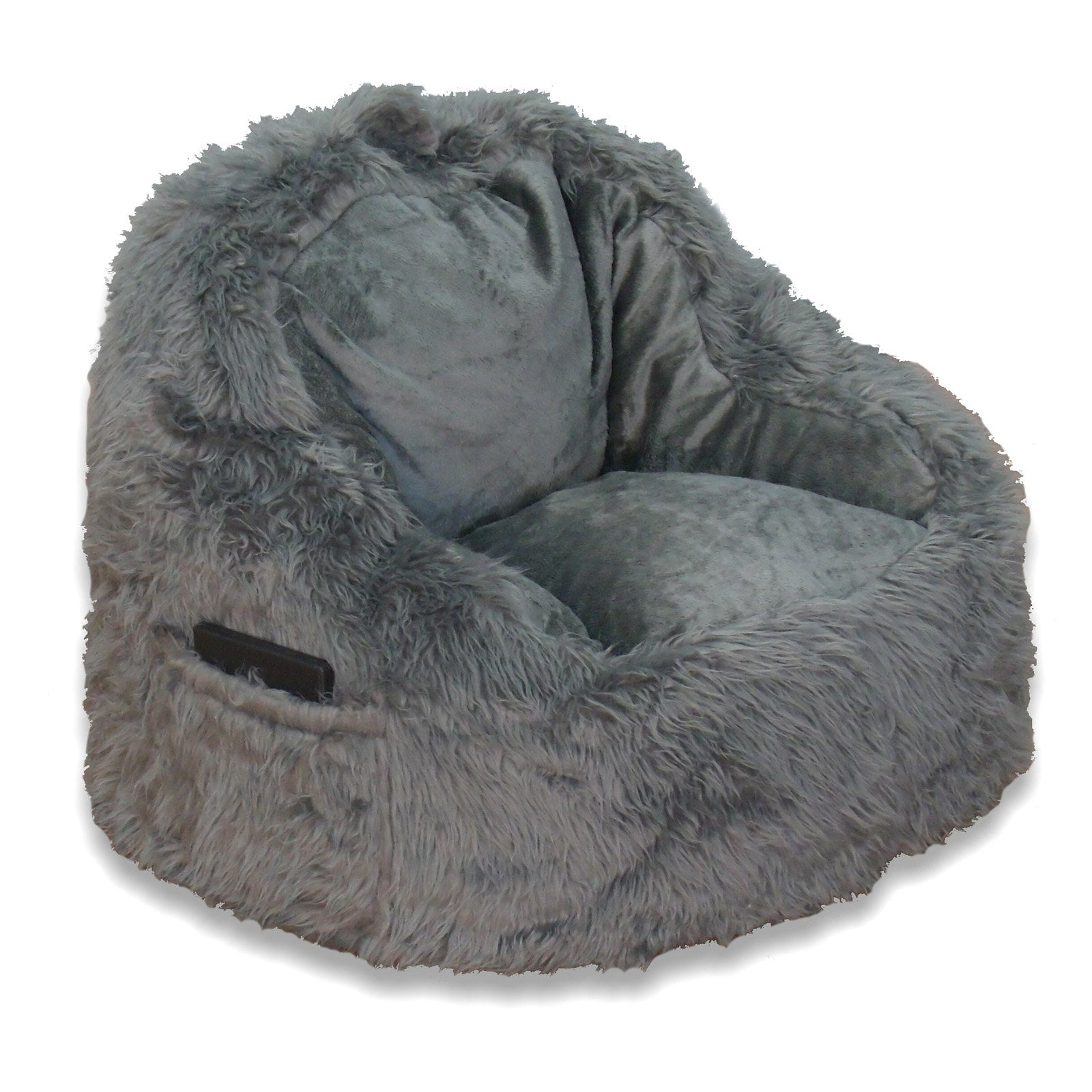 Marvelous Structured Tablet Fur Bean Bag Chair Available In Multiple Colors Walmart Com Evergreenethics Interior Chair Design Evergreenethicsorg