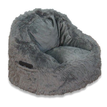 Structured Tablet Fur Bean Bag Chair, Available in Multiple Colors