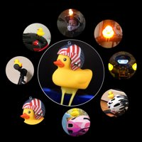 matoen Cartoon Duck Head Light Shining Duck Bicycle Bells Handlebar Bicycle Accessories