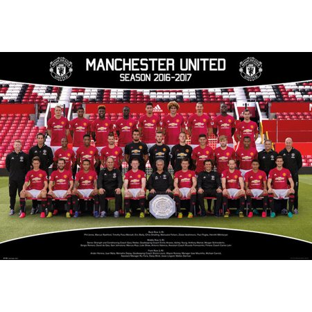 Manchester United Team Photo 1617 Laminated Poster (24 x 36)