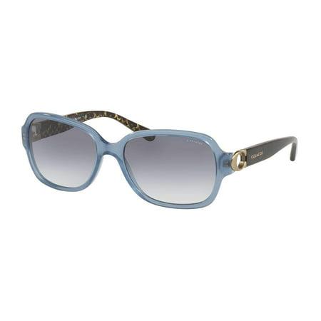 Coach HC8241 552179 Light Blue Rectangle Sunglasses ()