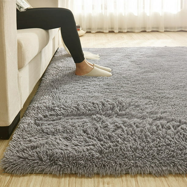 Super Soft Indoor Modern Shag Area Silky Smooth Fur Rugs Fluffy ...