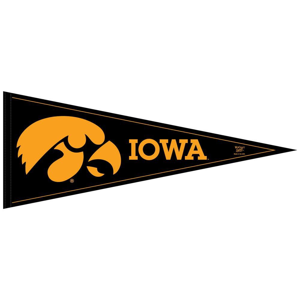 Iowa Hawkeyes Official NCAA 12 inch x 30 inch  Felt Pennant by WinCraft
