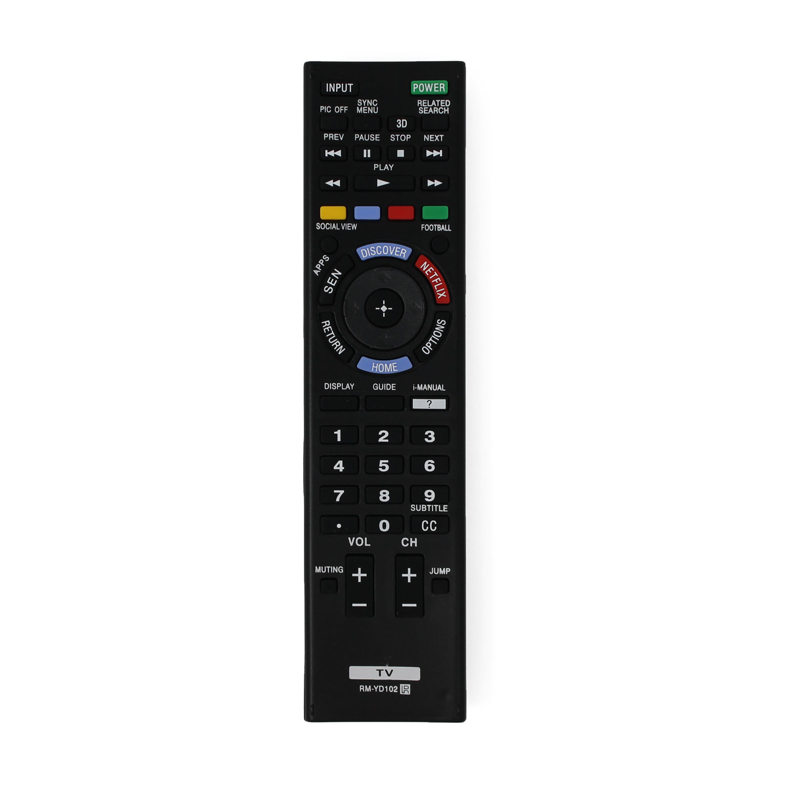 Replacement Sony RM-YD102 TV Remote Control for Sony KDL65W950B Television - image 4 of 4