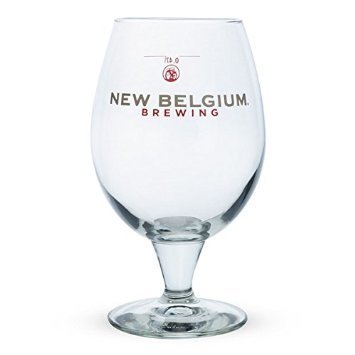New Belgium Fat Tire Ale Globe Glass, 1 New Belgium Chalice Glass By Fat Tire Amber Ale,USA