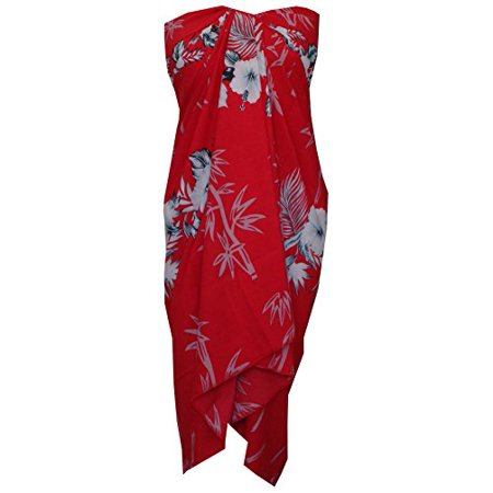 0f56526d4f alvish - Sarong 35 Women Bamboo Tree Printed Beach Swimsuit Wrap One Size  Pareo Red - Walmart.com