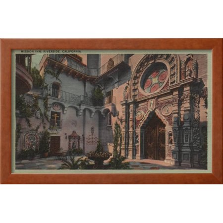 Riverside, CA - View of Mission Inn Courtyard Framed Art Print Wall ...
