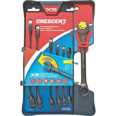 Crescent CX6RWS7 SAE Ratcheting Wrench Set 7-Piece Set