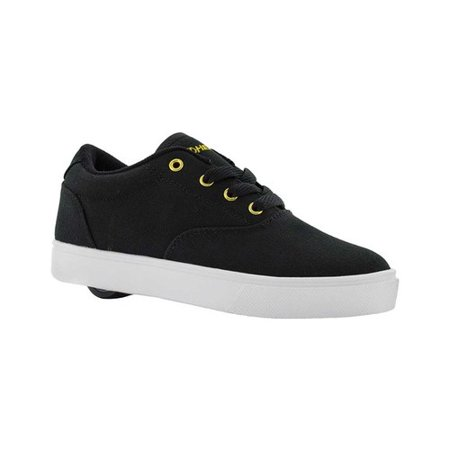Heelys Launch Black / Gold Ankle-High Canvas Fashion Sneaker - 5M