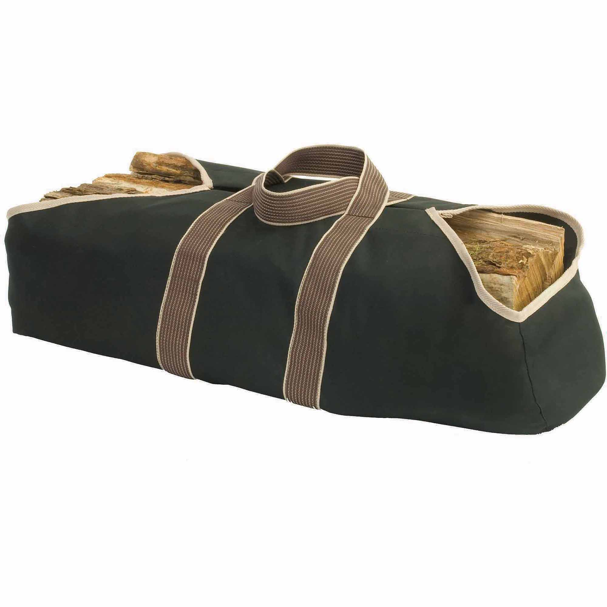 Pleasant Hearth Canvas Log Tote, Black