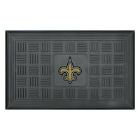 "New Orleans Saints 19"" x 30"" Vinyl Medallion Door Mat - Black - No Size"