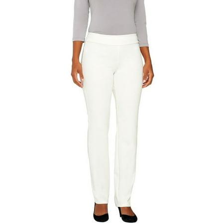 Women with Control Ponte di Roma Slim Leg Pants A258877