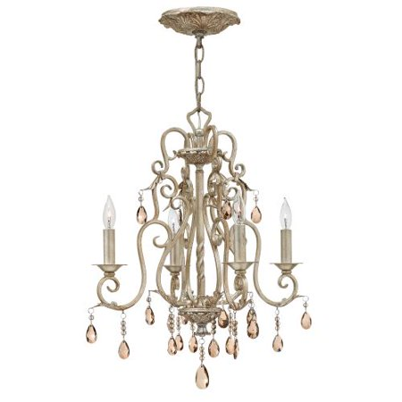 Hinkley Lighting 4774 Carlton 4 Light 1 Tier Candle Style Crystal Chandelier