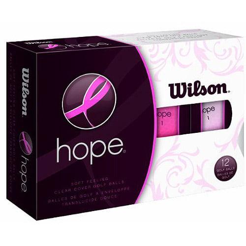 Wilson Hope Golf Balls, 12-pack, Pink/Hot Pink