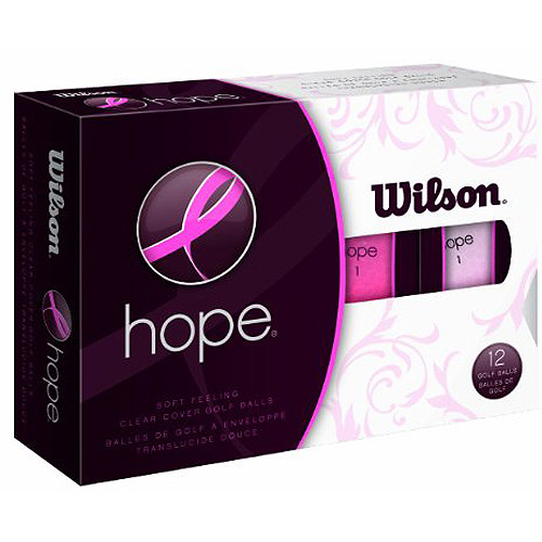 Wilson Hope Golf Balls, 12-pack, Pink/Hot Pink