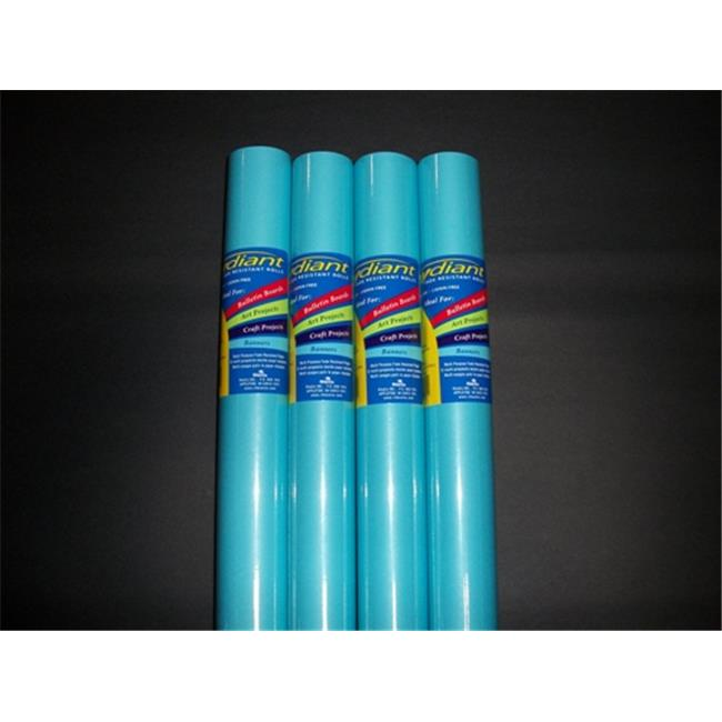 RiteCo Raydiant 80067 Riteco Raydiant Fade Resistant Art Rolls Light Blue 48 In. X 50 Ft. 4 Pack