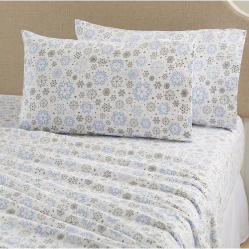 Stratton Collection Printed 100% Cotton Flannel Sheets By Home Fashion Designs