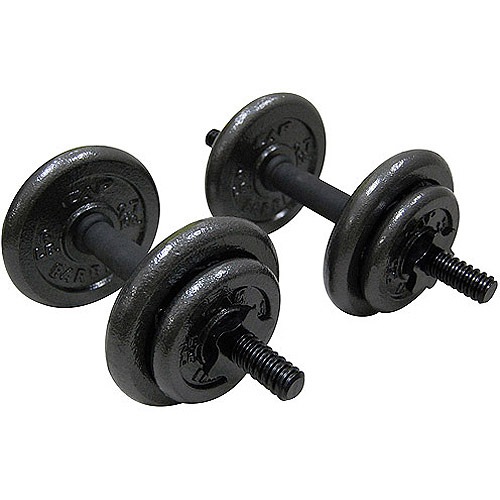 Best Home Dumbbell Set: Cast Iron Dumbbell Set Barbell 40 Lbs Adjustable Weight