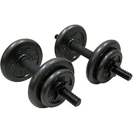 Gold's Gym Adjustable Cast Dumbbell Set, 40 lbs
