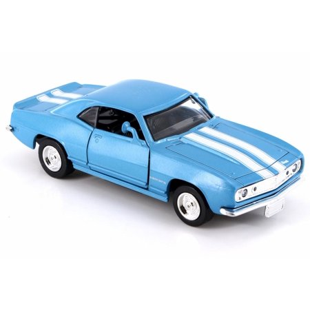 1967 Chevy Camaro Z-28, Blue w/ White stripes - New Ray 50461 - 1/32 Scale Diecast Model Toy Car (Brand New but NO BOX)