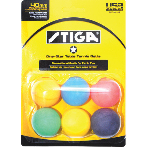 Stiga One-Star Table Tennis Balls (Set of 2)