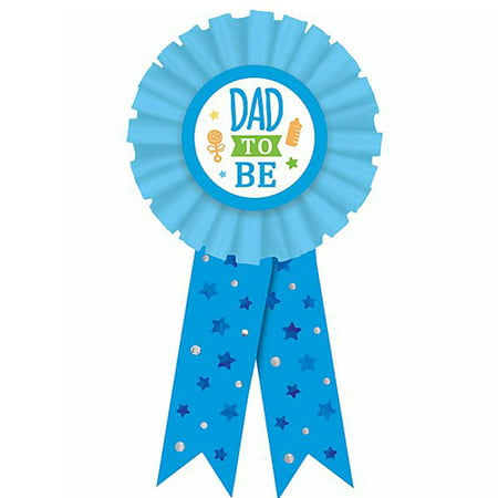 Baby Shower Blue 'Dad to Be' Guest of Honor Ribbon (1ct) - Baby Shower Guest Book Ideas