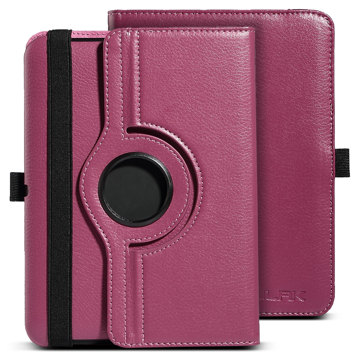 "ULAK Kindle Fire HD 7 Case [360 Rotating Stand Case] Smart Case Function Auto Wake / Sleep + Synthetic Leather for official Kindle Fire HD 7 (7"" inch) 2012 Release"