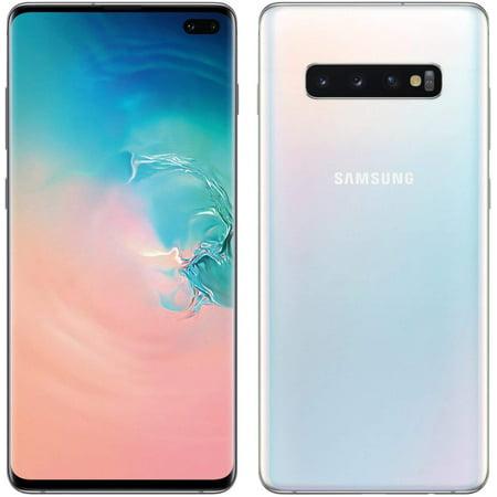 Samsung Galaxy S10+ Plus 128GB Prism White G975F Prism White GSM Unlocked (AT&T / T-Mobile) Smartphone B Grade Refurbished