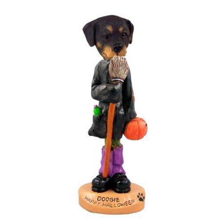 NO.DOOG1131 Rottweiler Happy Halloween Doogie Collectable Figurine (Rottweiler Halloween)