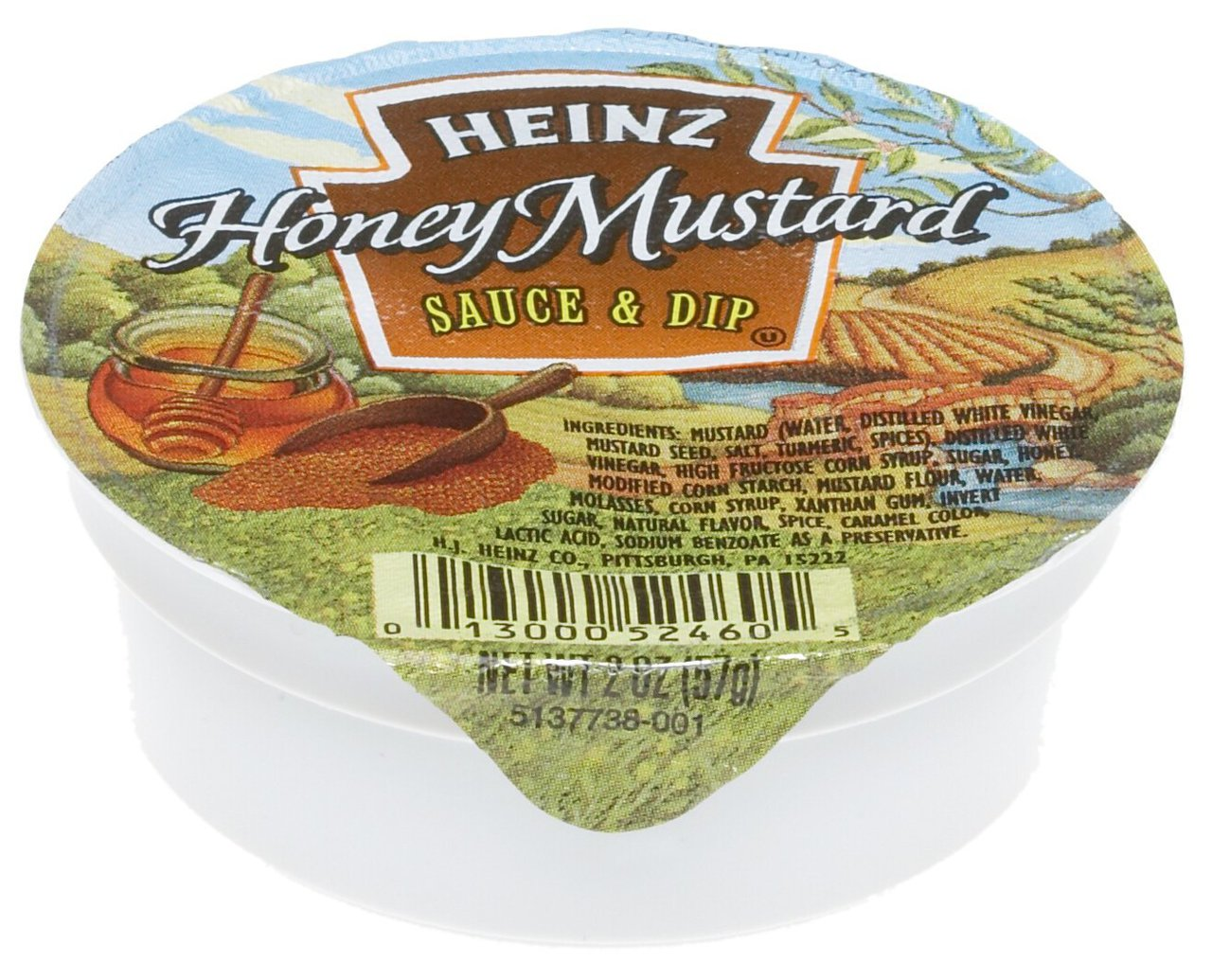 60 PACKS : Heinz Honey Mustard Dip, 2-Ounce Dipping Cups by