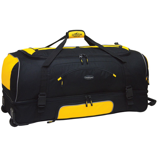 "Travelers Club X-Large 36"" Drop-Bottom Rolling Duffel with Telescopic Handle"