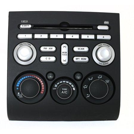 Mitsubishi Galant 2005-2006 Radio Control Panel w Climate Controls PN 8002A247HA - Refurbished