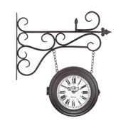 Sterling Double Sided Curled Iron Wall Clock 171-015
