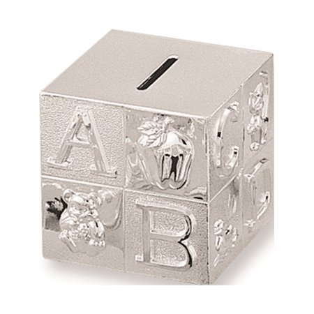 - Silver-Plated Baby Block Bank Designer Jewelry by Sweet Pea
