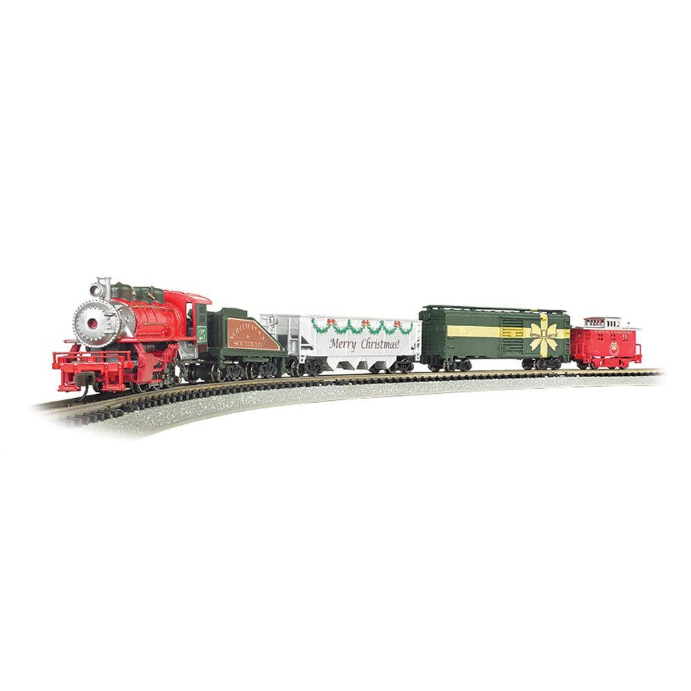 Bachmann Trains Merry Christmas Express 1:160 N Scale Electric Model Train Set by Bachmann Trains