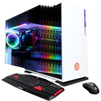 CyberPowerPC - Gamer Master Gaming Desktop - AMD Ryzen 5 3600 - 16GB Memory - AMD Radeon RX 5700 - 1TB HDD + 512GB SSD - White