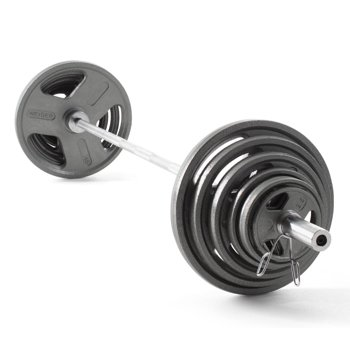 Weider Cast Iron Olympic Hammertone Weight Set (210 lbs)