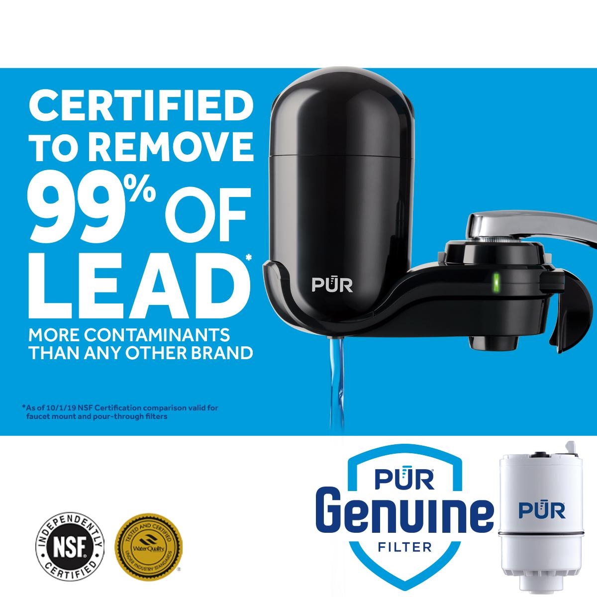 Black Kaz PUR FM-2000B Classic Vertical Water Filtration Faucet Mount