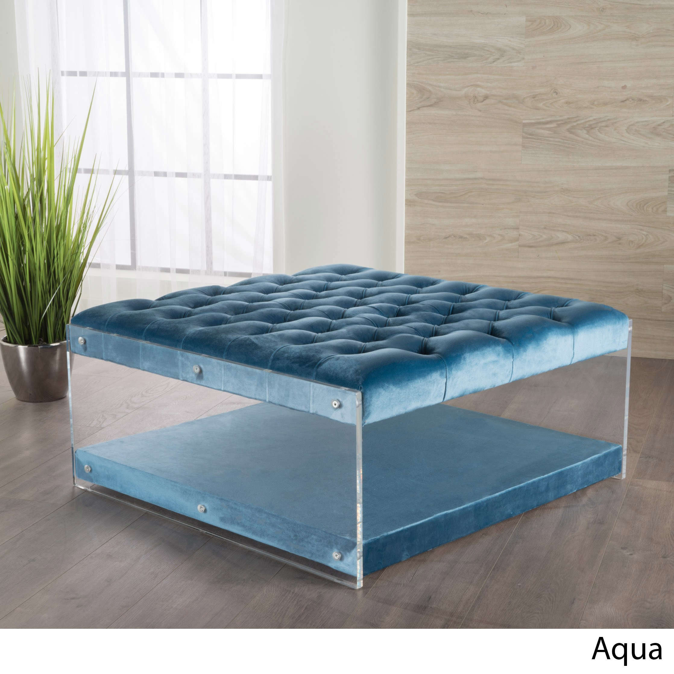 Astounding Christopher Knight Home Massimo Tufted Velvet Square Ottoman By Pabps2019 Chair Design Images Pabps2019Com