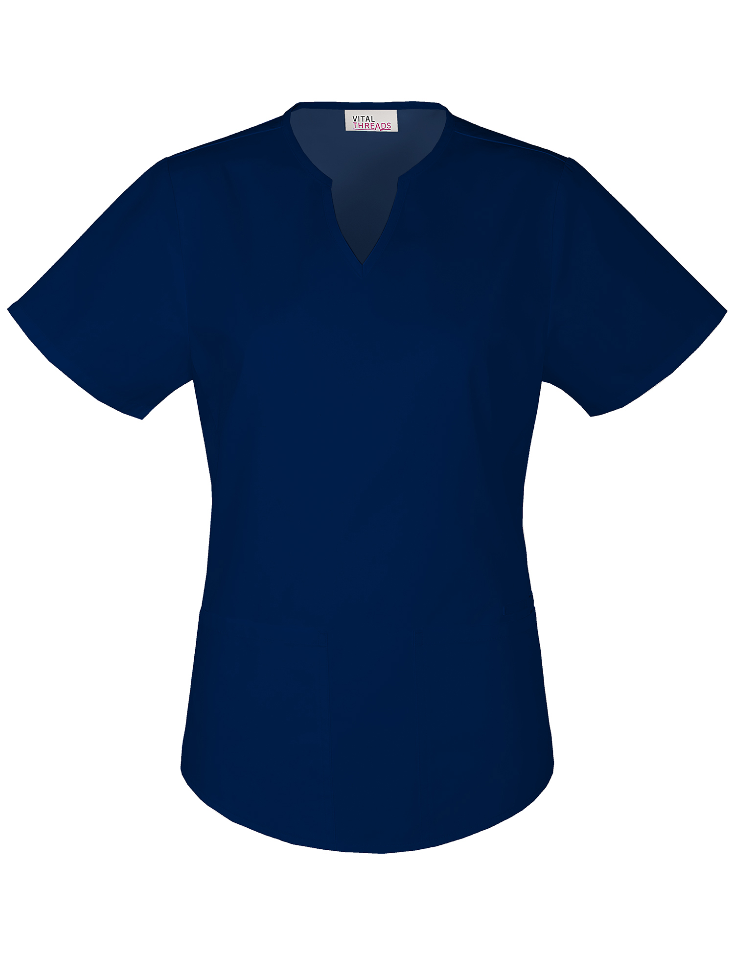 Vital Threads Women's Core Essentials Split V-Neck Scrub Top
