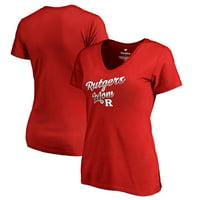 Rutgers Scarlet Knights Fanatics Branded Women's Team Mom T-Shirt - Red