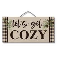 Highland Home Get Cozy Pallet Wood Sign 12 inch by 6 inch Made in the USA
