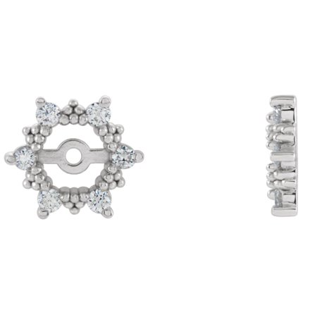 Diamond Snowflake Earring Jackets