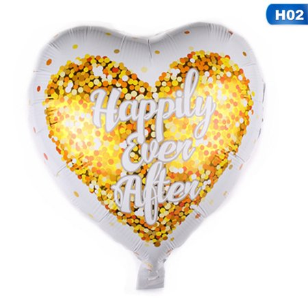KABOER Just Married Balloon  Heart Shaped Custom Personalized Party Decoration Bride  Wedding Balloon Bridal  Engagement