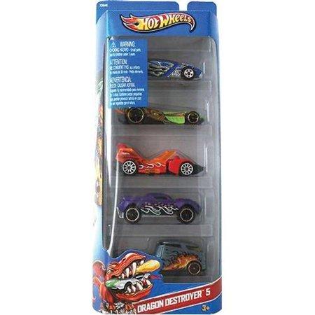 Hotwheels Dragon Destroyer 5 Pack - Walmart.com