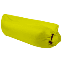 Outdoor Inflatable Lounger Couch, Air Sofa Blow Up Lounge Chair with Carrying Bag for Traveling, Camping, Hiking, Park, Pool - Yellow
