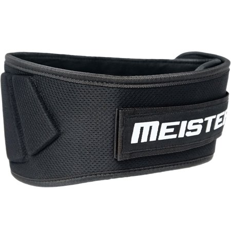 Meister Contoured Neoprene Weight Lifting Belt - Black -