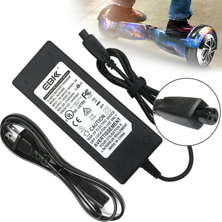 Mtd Plug (EBK Safe 42V 2A Fast Battery Charger AC power Cord Adapter for Balance Wheel Self-Balancing Electric Scooter hoverboard Sport Mod Dirt Quad [US Plug - upgraded] )