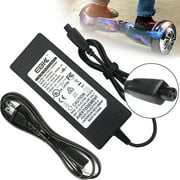 EBK Safe 42V 2A Fast Battery Charger AC power Cord Adapter for Balance Wheel Self-Balancing Electric Scooter hoverboard Sport Mod Dirt Quad [US Plug - upgraded]