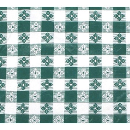 - TBCO-90G Checkered Table Cloth, 52-Inch x 90-Inch, Green, Printed PVC with cotton lining By Winco
